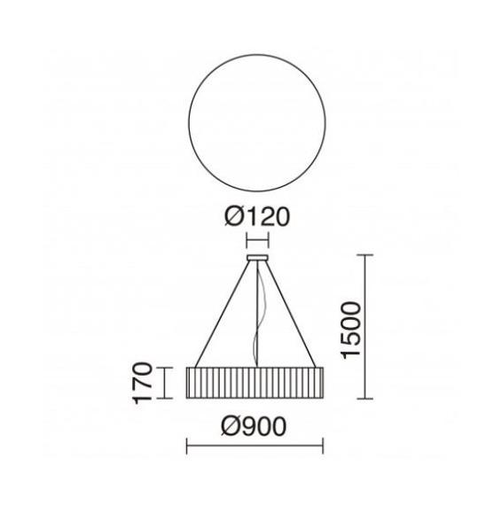Lampa wisząca Vorada 908F-L0129B-RC Novolux Exo