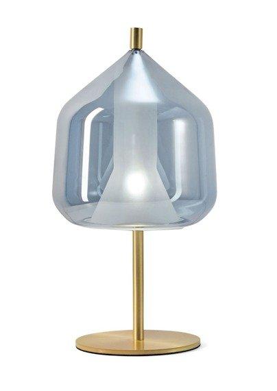Lampka nocna Miloox X-Ray złoto - błękitna