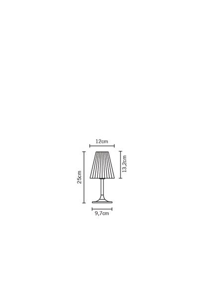 Lampka stojąca Fabbian FLOW D87 B01 00 cristal
