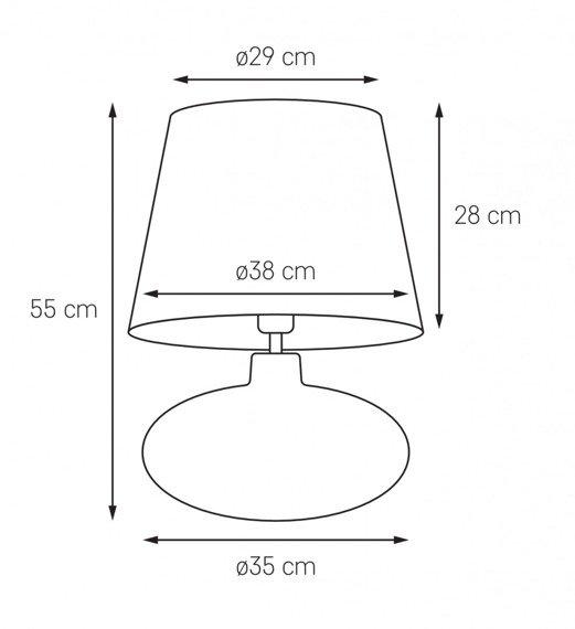 Lampka stojąca Kaspa Sawa 41016111