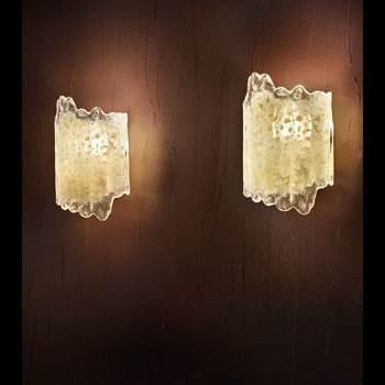 MADRID LP 6/249A  bursztynowy/miedziany Lampa Ścienna Sillux