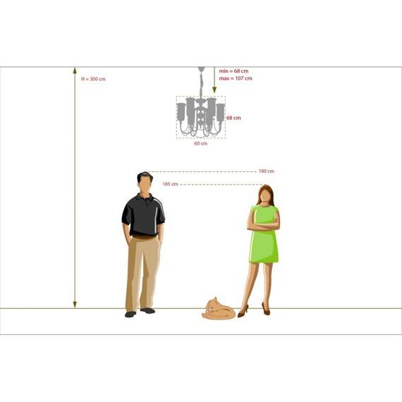 MW-Light Classic 481012606 Klasyczny Żyrandol