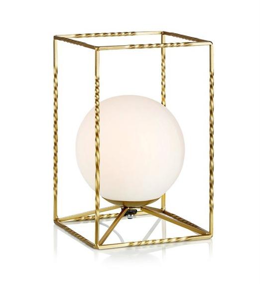 Markslojd Eve 107817- Lampka nocna złota z białym kloszem 1 x 40 W