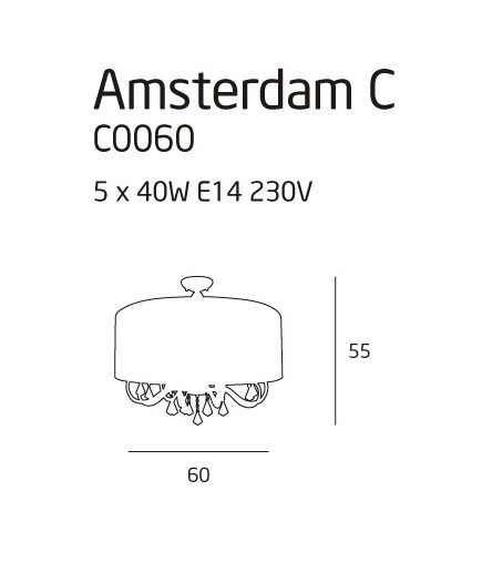 Max Light AMSTERDAM C0060 Plafoniera biała
