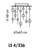NIAGARA LS 4/236  kwadrat crystal Lampa Sufitowa Sillux