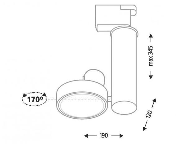 Natori 6608 Shilo Biały Reflektor do szynoprzewodu