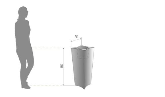 PD Concept 80 cm Donica Podświetlana Doris PL-DO80-LIGHT Biała