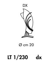 ROMA LT 1/230 bursztynowa/miedziana prawa Lampa Stolikowa Sillux