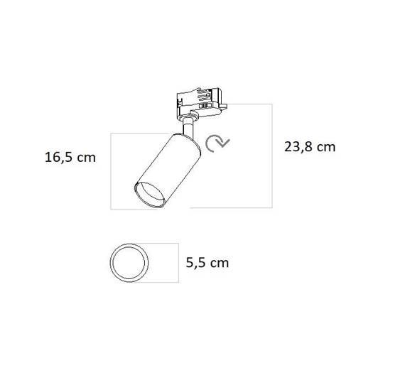 Reflektor Ledowy Do Szyny 3 Fazowy Berella Light Fusa 15W GD BL5192 Złoty