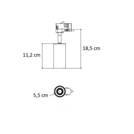 Reflektor Ledowy Do Szyny 3 Fazowy Berella Light Fusa 7W GD BL5191 Złoty