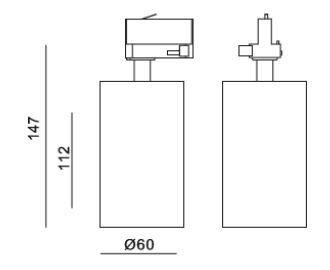 Reflektor do szyny LEDowy Mob Mistic MSTC-05411350 czarny kolor