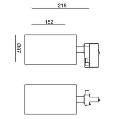 Reflektor do szyny LEDowy Mob Mistic MSTC-05411380 biały kolor