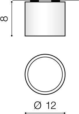 Reflektor sufitowy Czarny Azzardo Alix AZ3540