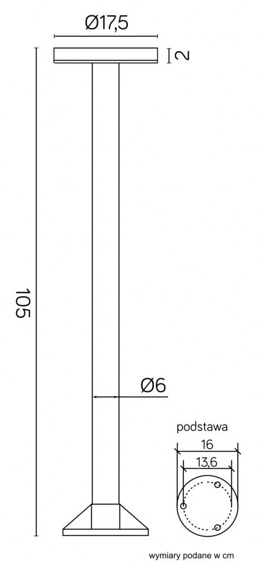 Rondo 1062-1050 Lampa Stojąca SU-MA