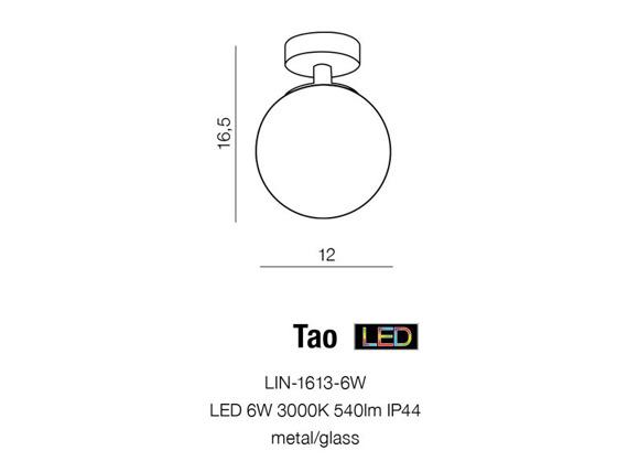 Tao LIN-1613-6W  Azzardo Spot Szklany