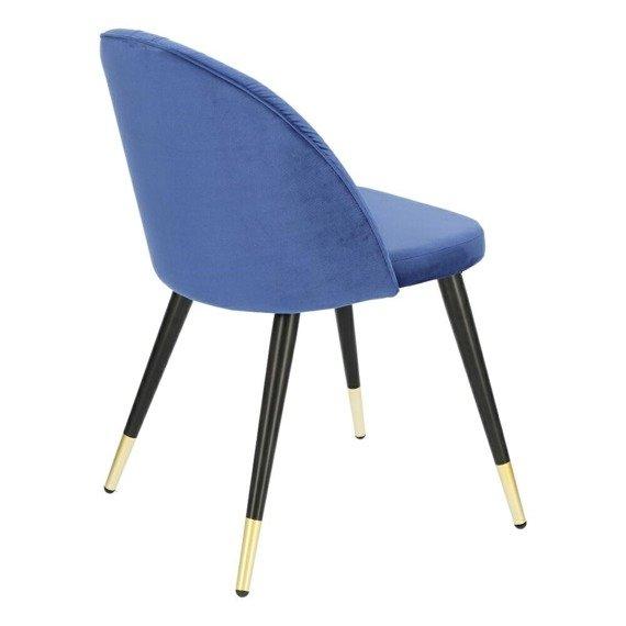 Welurowe krzesło niebieskie Kotte Velvet