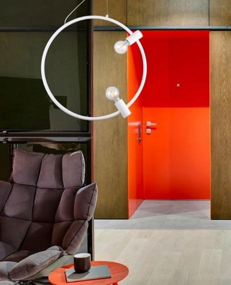 Zwis Azzardo Orsola w stylu loft biała