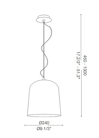 Zwis BISTRO SP1 SQUARE 112312 srebrno szara Ideal Lux