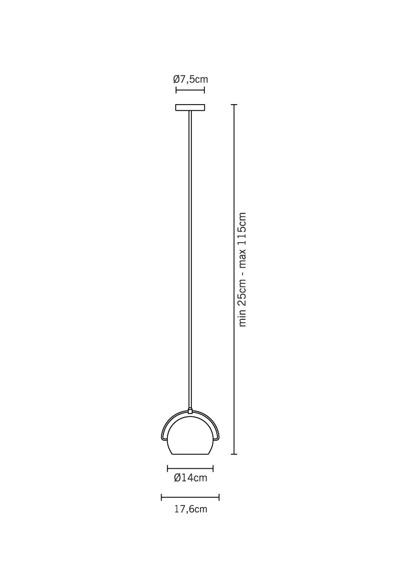 Zwis Fabbian BELUGA STEEL D57 A07 15