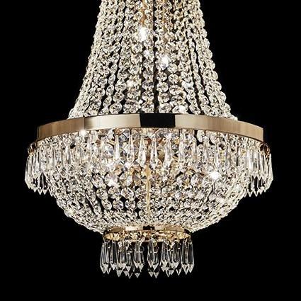 Żyrandol CAESAR SP9 114736 złota Ideal Lux