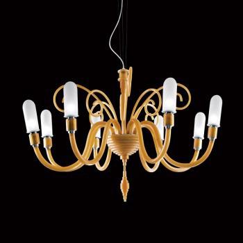 Żyrandol Facon de Venice SUZANNE 8L amber + nakładki