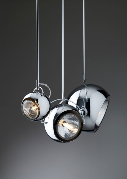 Żyrandol Lampa Fabbian BELUGA STEEL D57 A09 15