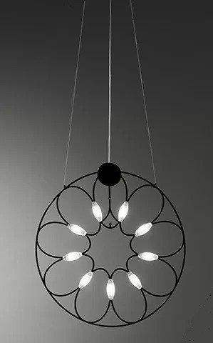 Żyrandol Sforzin Lafra kolor czarny 30 cm